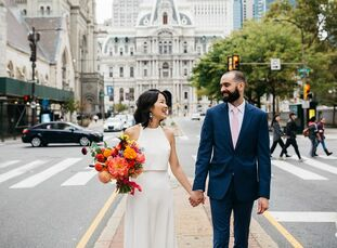 Grace and Michael like to do things their way. Exhibit A: The pair decided to host their wedding in Philadelphia to be close to family. Grace used her