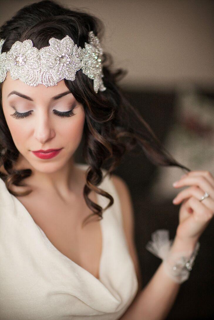 Vintage Crystal-Embellished Bridal Headpiece