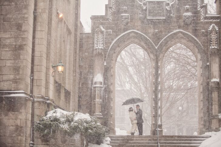 The trick to pulling off a February wedding in the Northeast is to accept the possibility that it might snow. Francesca Garzio (27 and a special-educa
