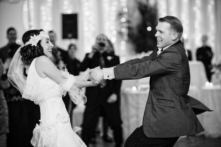 """""""Instead of doing a slow dance, our first dance was a fun dance,"""" Francesca says. """"We danced to 'Ho Hey' by the Lumineers and it got everyone off to a great start. I thought that reflected us the most."""""""