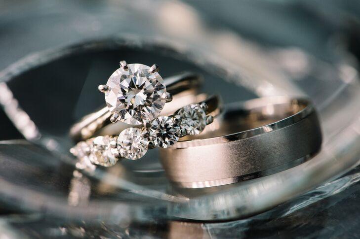 Elegant Diamond and White Gold Wedding Bands