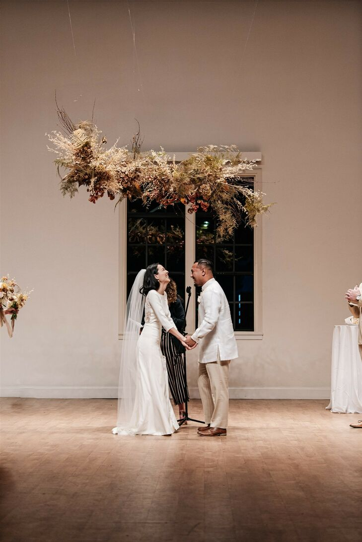 Ceremony at Modern and Minimal Wedding in San Diego, California