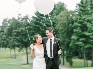 Lynn Camire (27 and a social worker) and Joe Monillo (29 and works in insurance sales) exchanged vows on a warm August day in Southington, Conn. The p