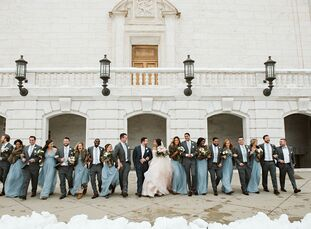 """Krystina and Jonathan Purkey's wedding at Planterra Conservatory was inspired by something unexpected: the bride's dress. """"I had always envisioned a b"""