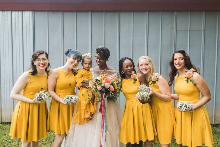 Canary Yellow Bridal Party at Philadelphia Glider Council in Perkasie, Pennsylvania