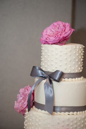 Pink Flower Cake Topper
