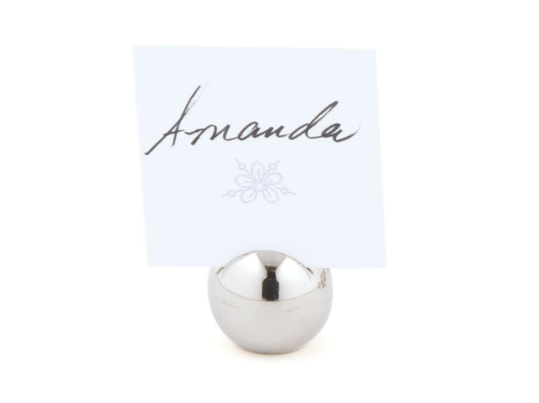 The Knot Shop classic round place card holders