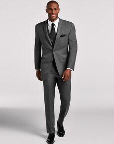 Men's Wearhouse Joseph Abboud Dark Gray Satin Edged Notch Lapel Tux Tuxedo
