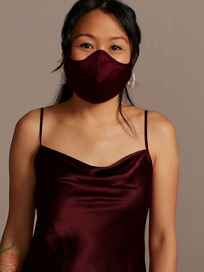 Satin wedding mask