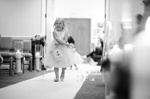 Flower Girl Procession With Anchor Basket