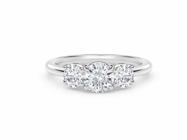 Forevermark three stone engagement ring