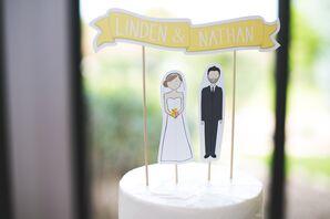 Custom Paper Bride and Groom Cake Topper