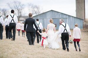 Wedding Party at Chrisman Manor in Oskaloosa, Kansas