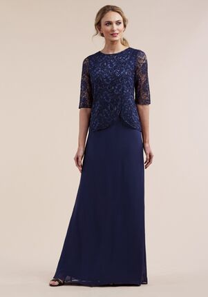 Jasmine Black Label Mother of the Bride M210056 Blue Mother Of The Bride Dress