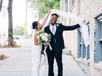 elegant, modern wedding at the machine shop in Minneapolis, Minnesota