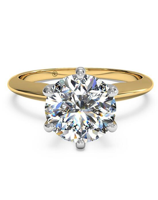 Ritani Solitaire Diamond Six-Prong Knife-Edge Engagement Ring - in 18kt Yellow Gold for a Round Center Stone Engagement Ring photo