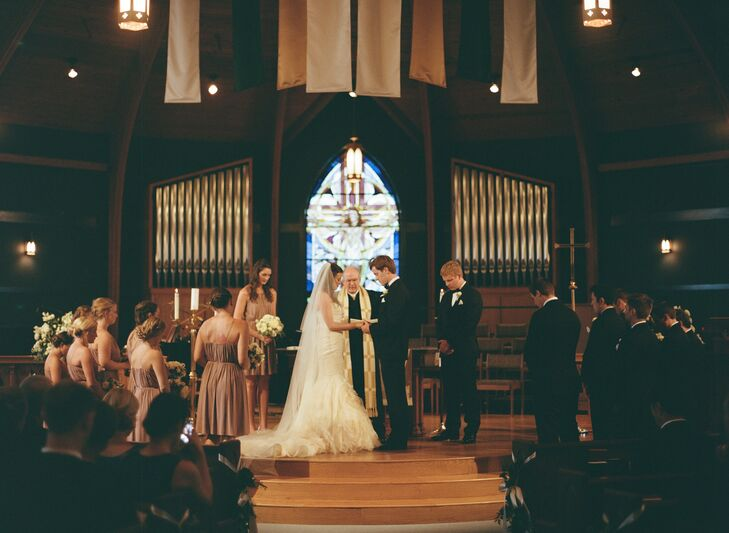In honor of their religion, Casey and Clay opted to get married at the Christ United Methodist Church before their reception at Fearrington Village.