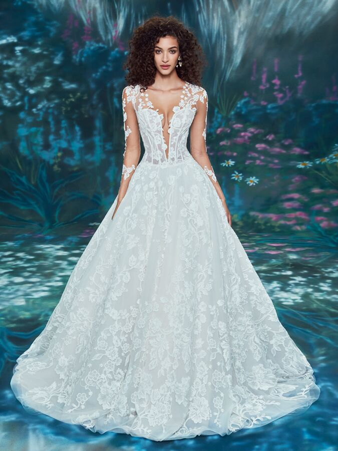 Ines Di Santo corset ball gown with plunging V-neck