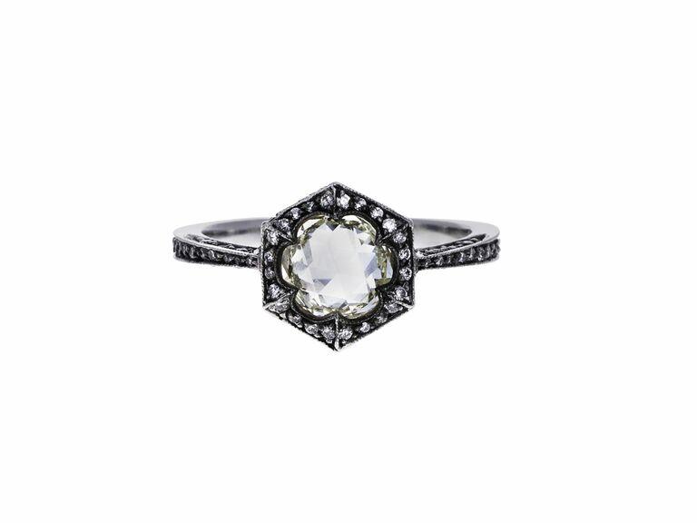 Cathy Waterman rose cut engagement ring