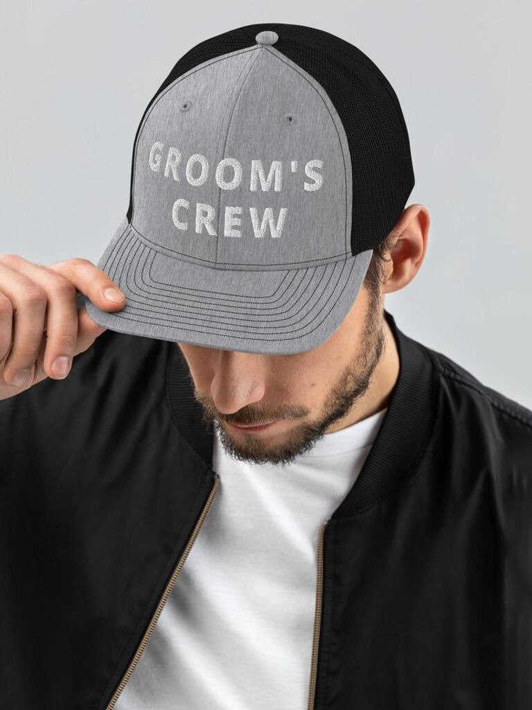 groovy groomsmen gifts groom's crew hat for bachelor party favors