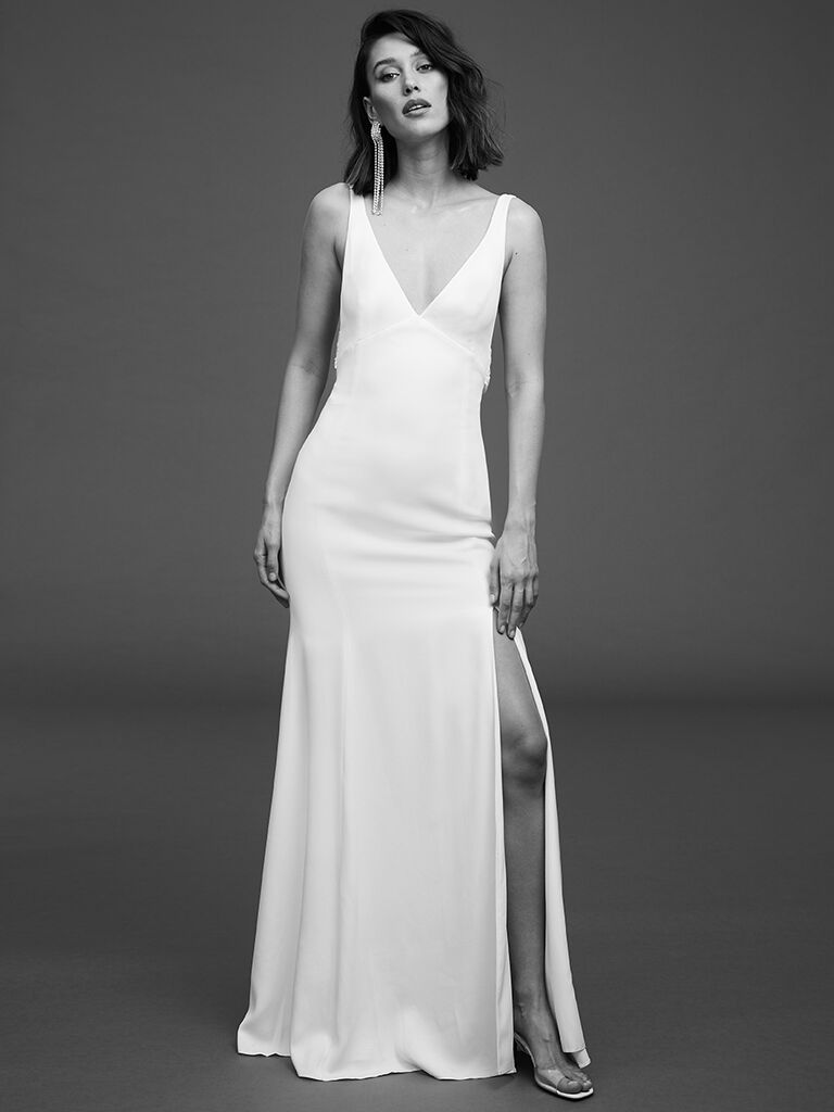 Rime Arodaky fitted crepe gown