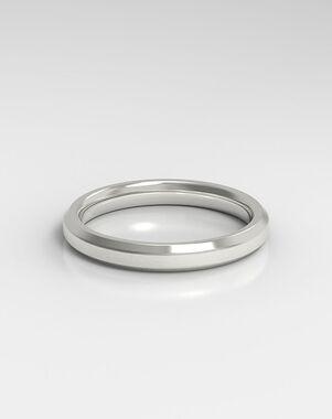 HOLDEN The Beveled Rose Gold, Platinum, White Gold Wedding Ring