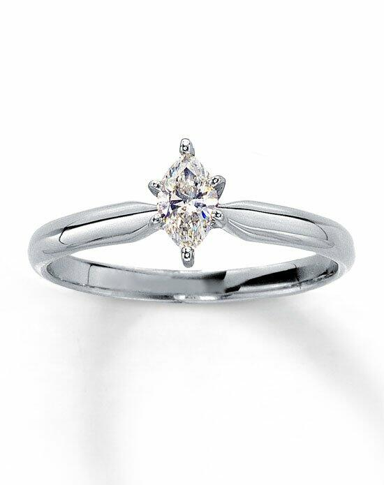 Kay Jewelers Diamond Solitaire Ring 1/4 ct Marquise 14K White Gold-161233109 Engagement Ring photo