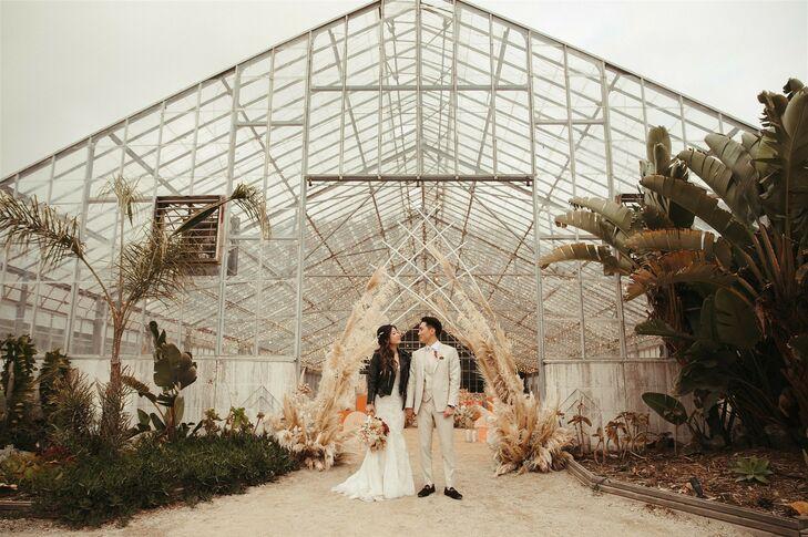 Greenhouse Wedding Portraits at Dos Pueblos Orchid Farm in Goleta, California