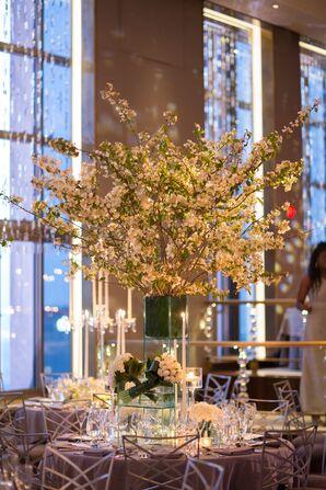 Elegant Cherry Blossom Centerpiece