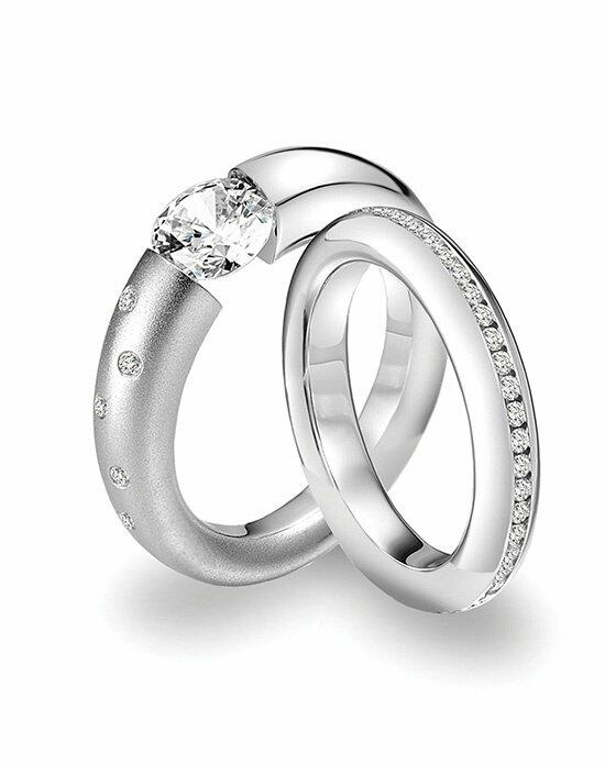 Platinum Must Haves Steven Kretchmer Platinum and Diamond Wedding Ring Set Engagement Ring photo