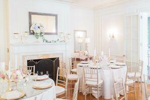 Elegant Reception With Gold Chiavari Chairs