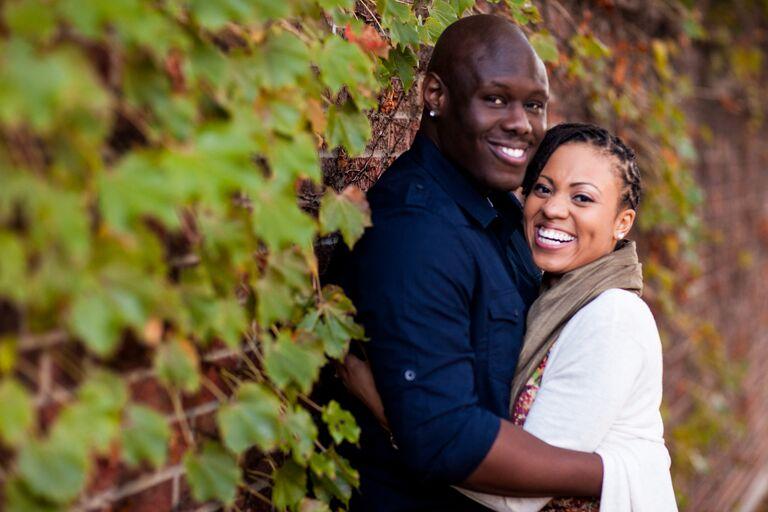 Brittani and Jeremy engagement photo Columbia MO