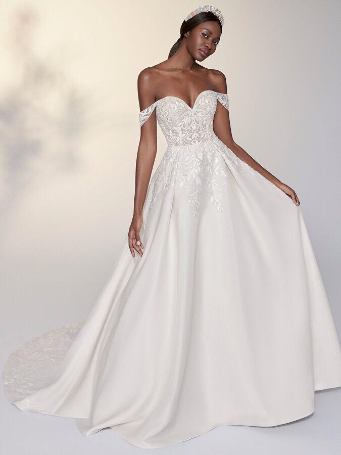 Justin Alexander Signature tulle A-line wedding dress