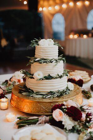 Buttercream Cake with Olive Leaf Garlands