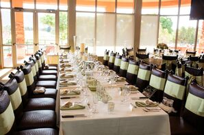 The Classic Green Tablescapes at the Sedona Reception