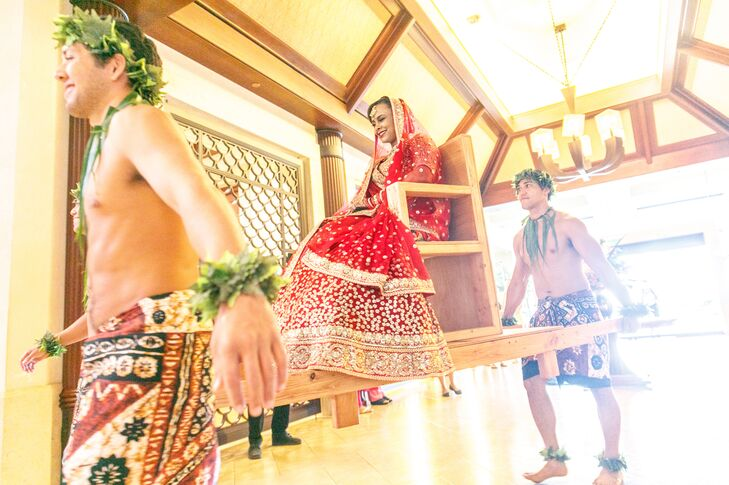 Traditional Indian Processional with Hawaiian Dancers