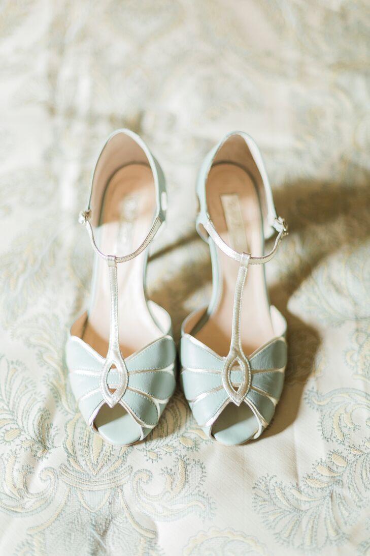 Light Blue BHLDN Wedding Heels