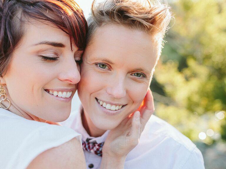 Same sex engagement shoot
