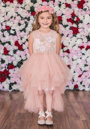 Kid's Dream C203 Ivory,Pink Flower Girl Dress