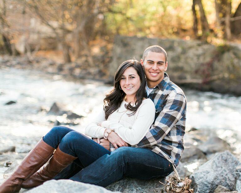 Natalie and Eric engagement photo Wilmington DE