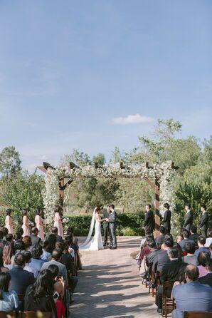 Wedding Ceremony Outside at Oak Creek Gold Club in Irvine, California