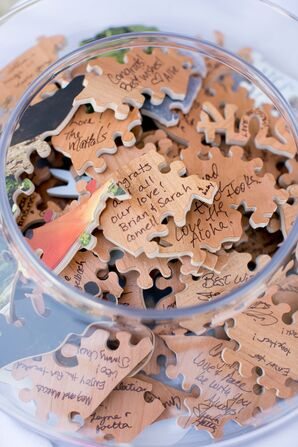 Wooden Puzzle Alternative Wedding Guest Book