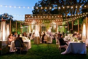 Seating Reception Under Canopy of Twinkle Lights