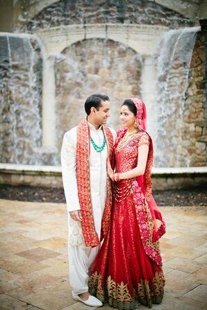 Traditional Red Bridal Saree