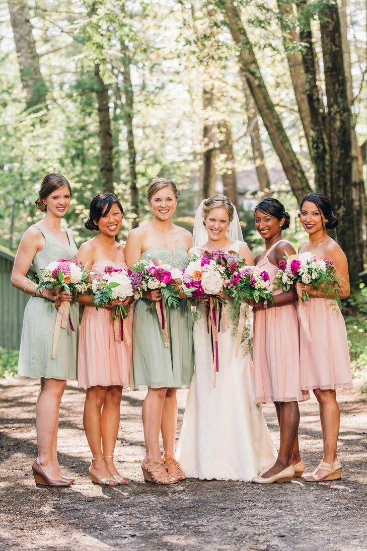 Pastel J.Crew Bridesmaid Dresses