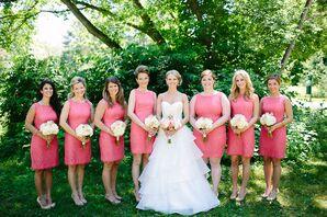 Coral Shift Bridesmaid Dresses