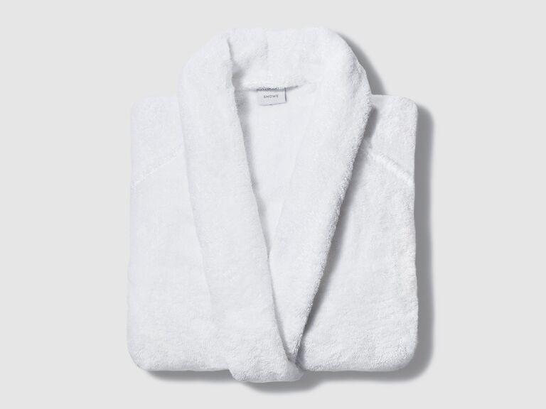 White robe bridal shower gift idea