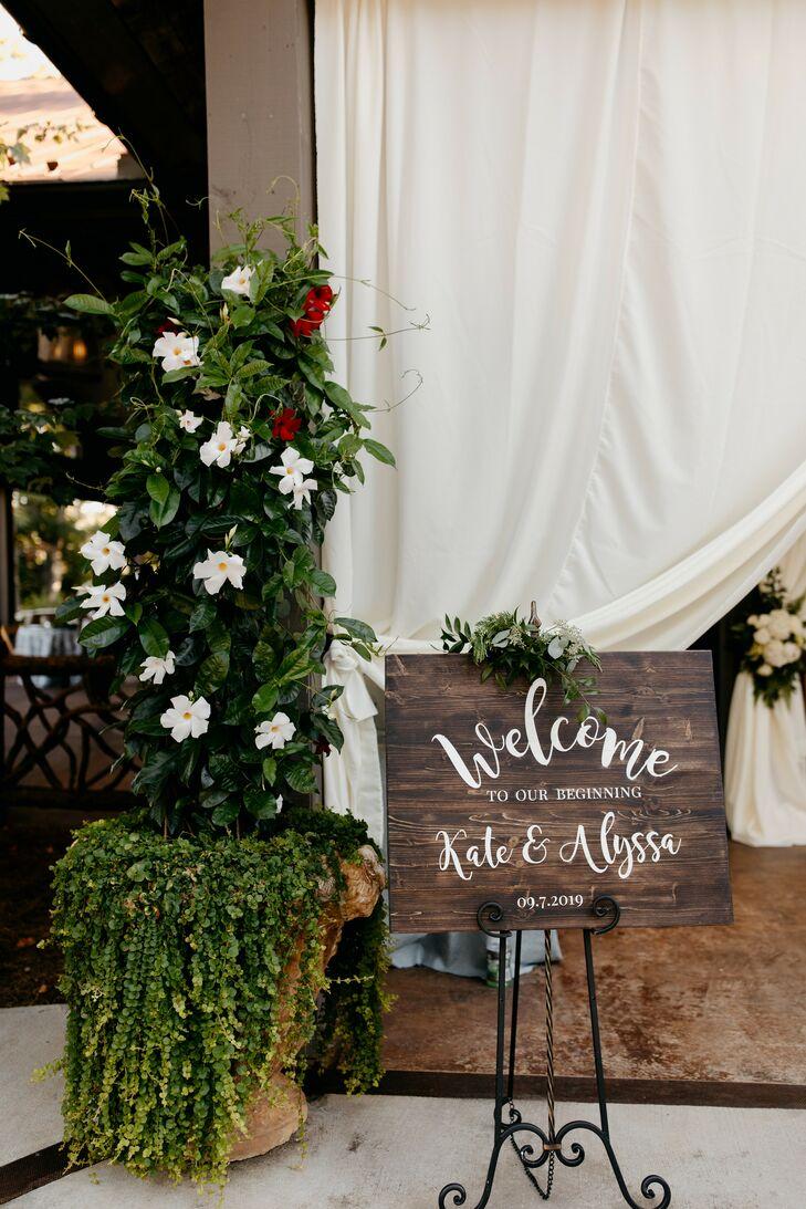 Welcome Sign at Rustic North Carolina Wedding