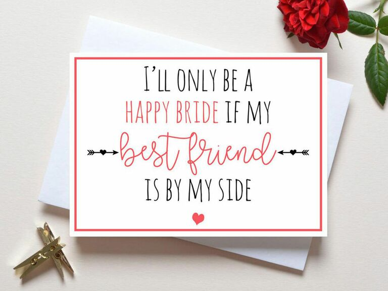 bridesmaid proposal card for best friend