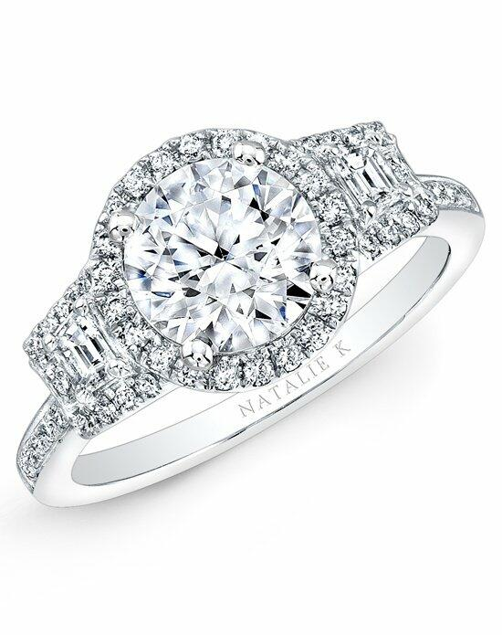 Natalie K Trois Diamants Collection - NK28711-18W Engagement Ring photo